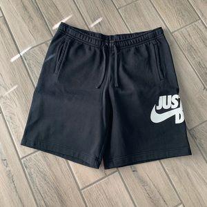 nike just do it sweat shorts black men's XL